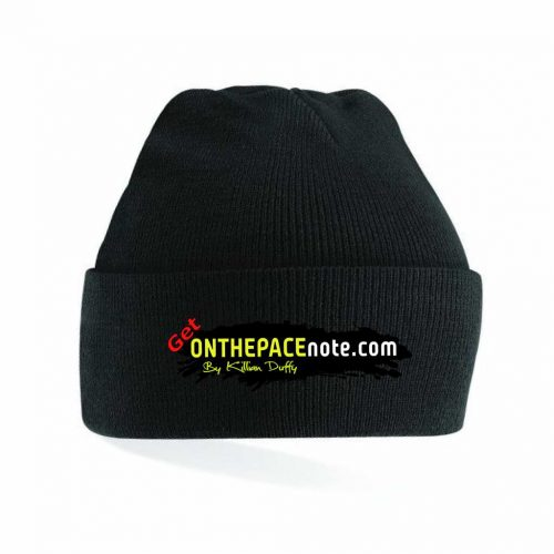 on the pacenotes black beanie