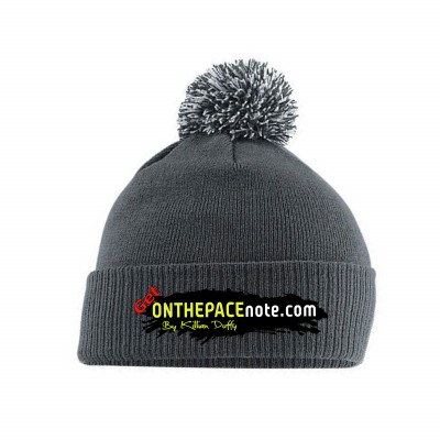 on the pacenotes bobble hat